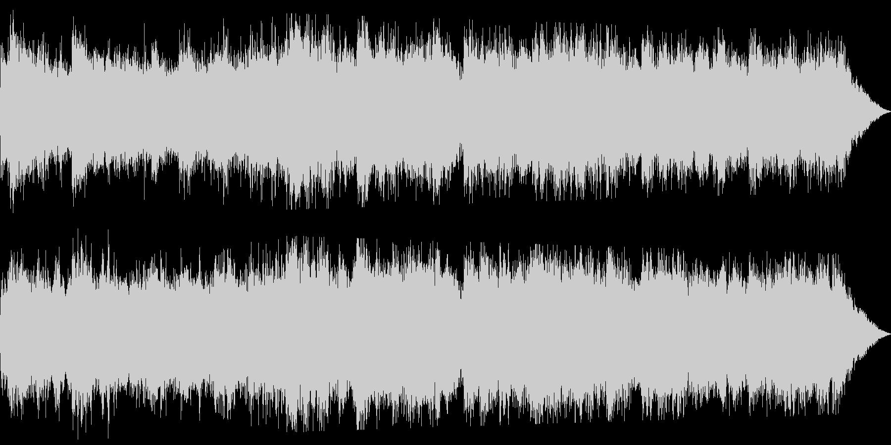 重低音が響くホラーサウンドです。の未再生の波形
