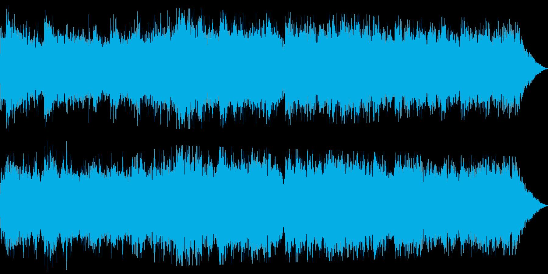 重低音が響くホラーサウンドです。の再生済みの波形