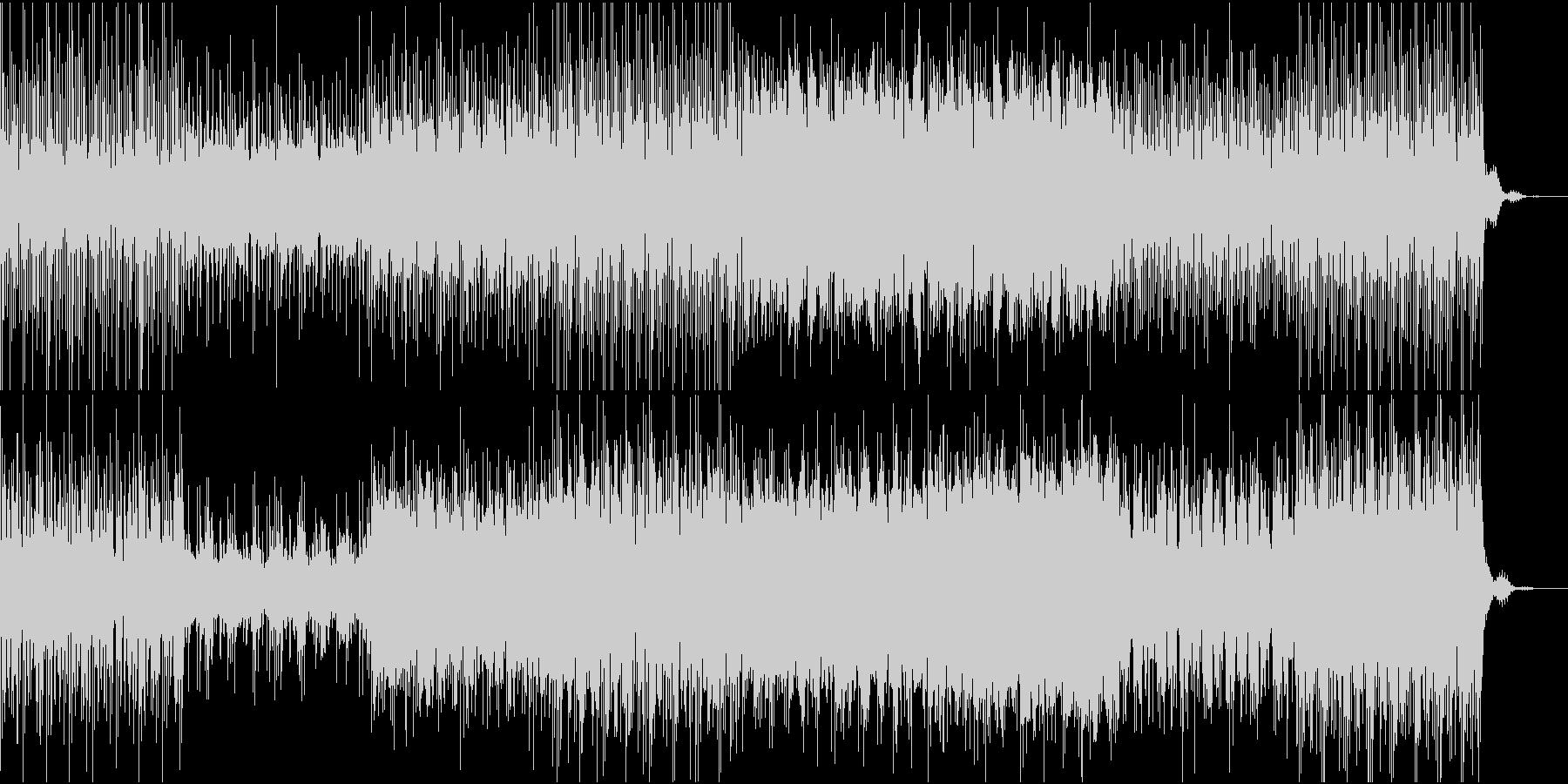牧歌的シンセサイザーミュージックの未再生の波形