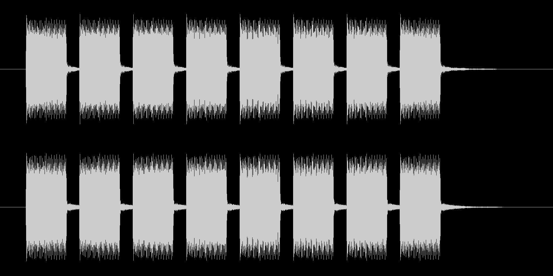 ブザーの連続音の未再生の波形