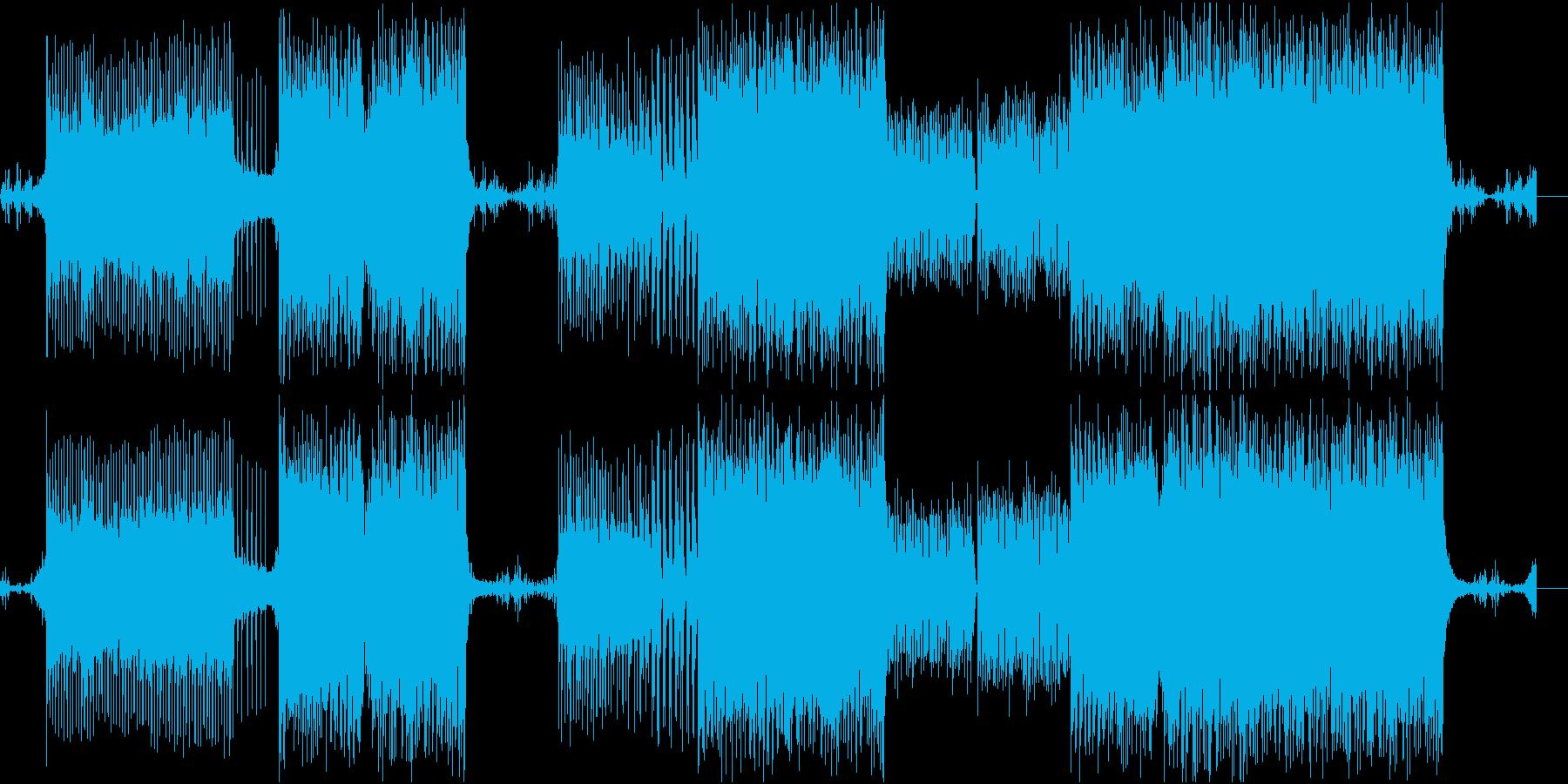 エレクトロなメロディが印象的な楽曲の再生済みの波形