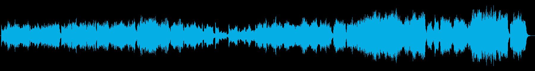 映像に最適な優しい旋律の心温まる作品の再生済みの波形