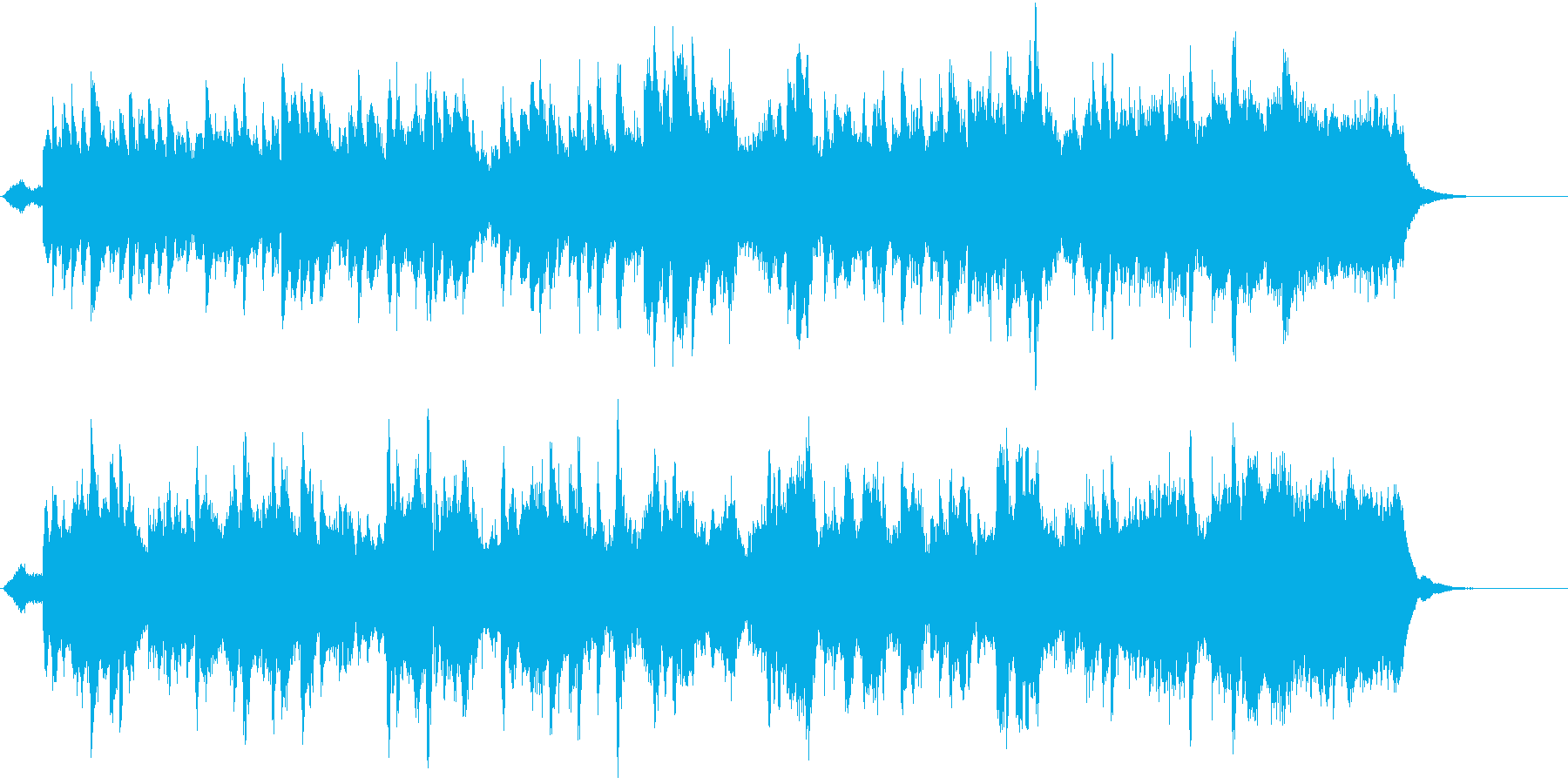 郷愁の場面に優しく前向きなオーケストラ4の再生済みの波形