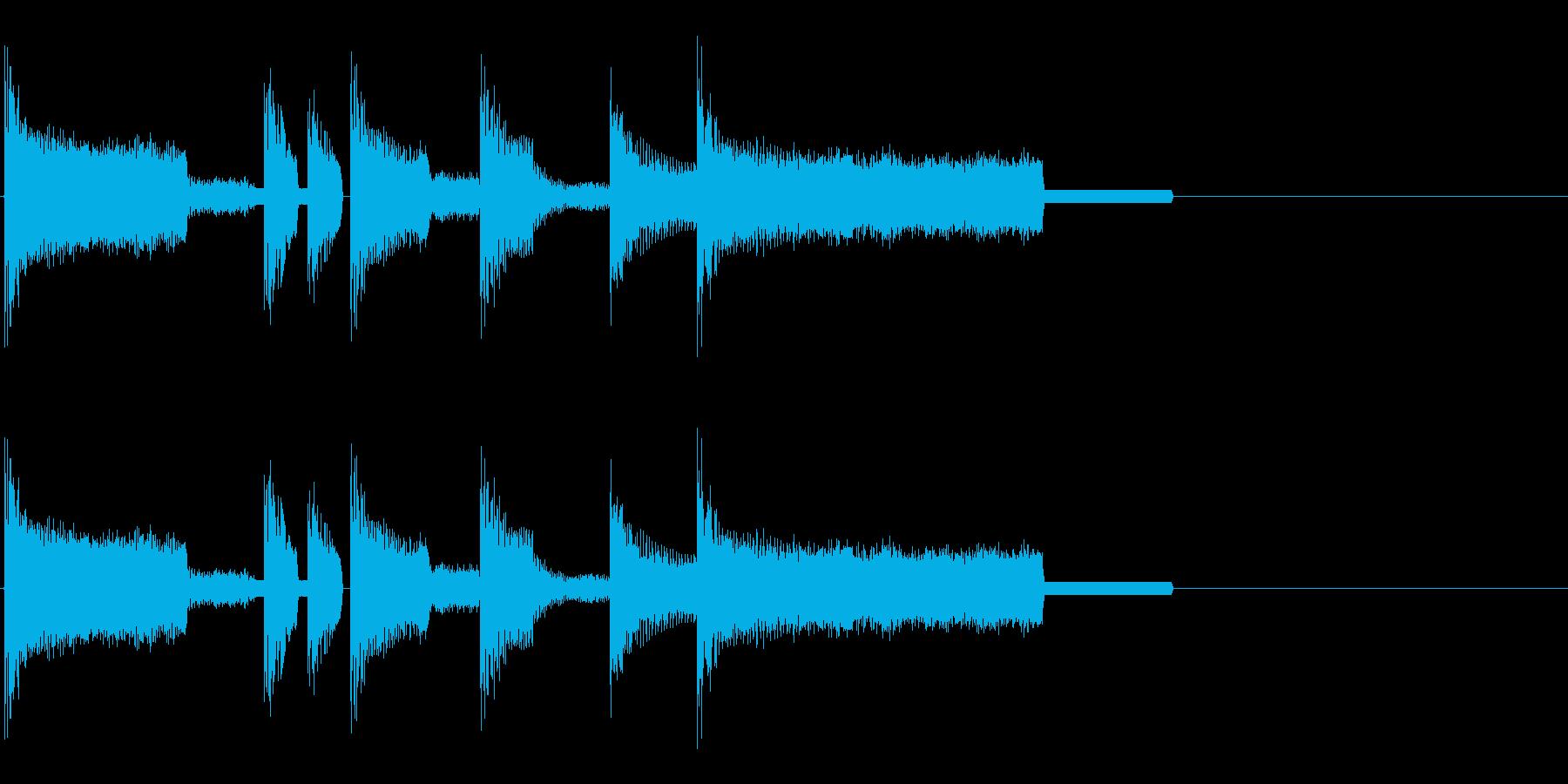 レトロゲーム風・ゲームオーバー#1の再生済みの波形