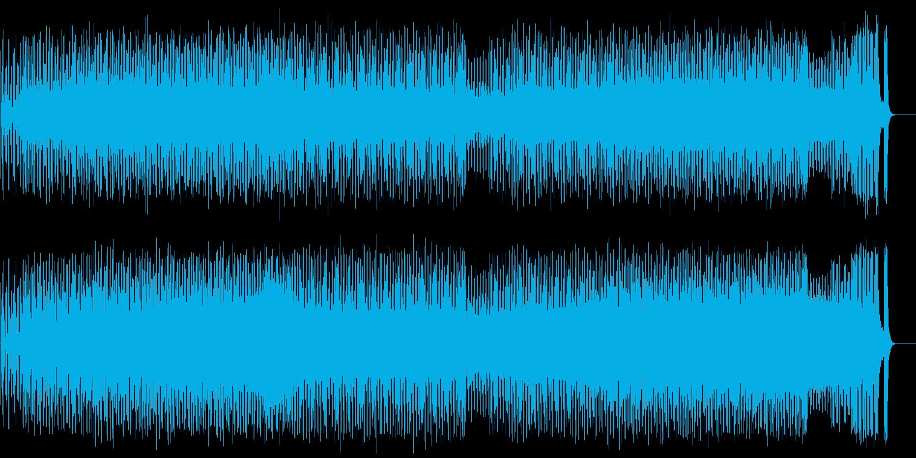 スタイリッシュで淡々としたテクノポップの再生済みの波形