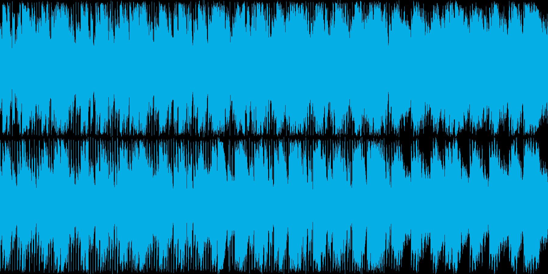 暗すぎないが悲しげな電子音楽の再生済みの波形
