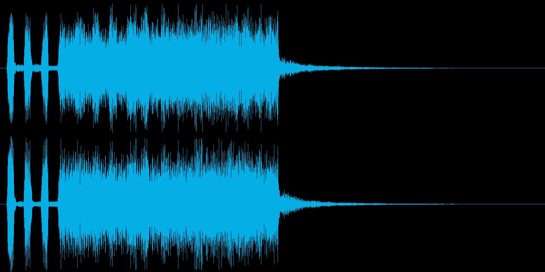 アニメなどに便利な様子を表す曲の再生済みの波形