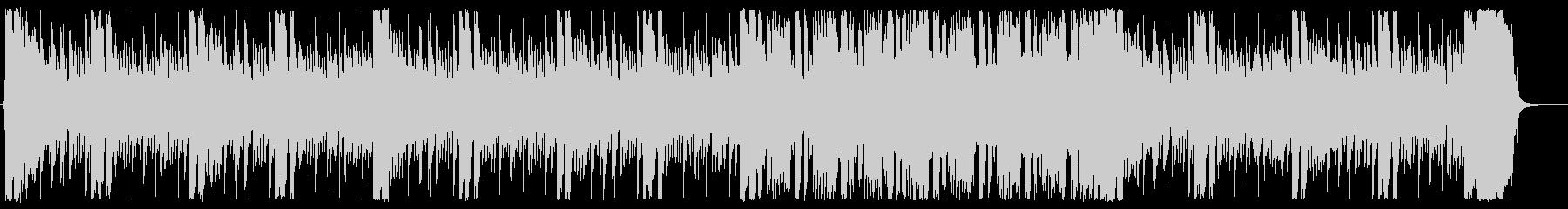 サイバーテイストのギターロックの未再生の波形