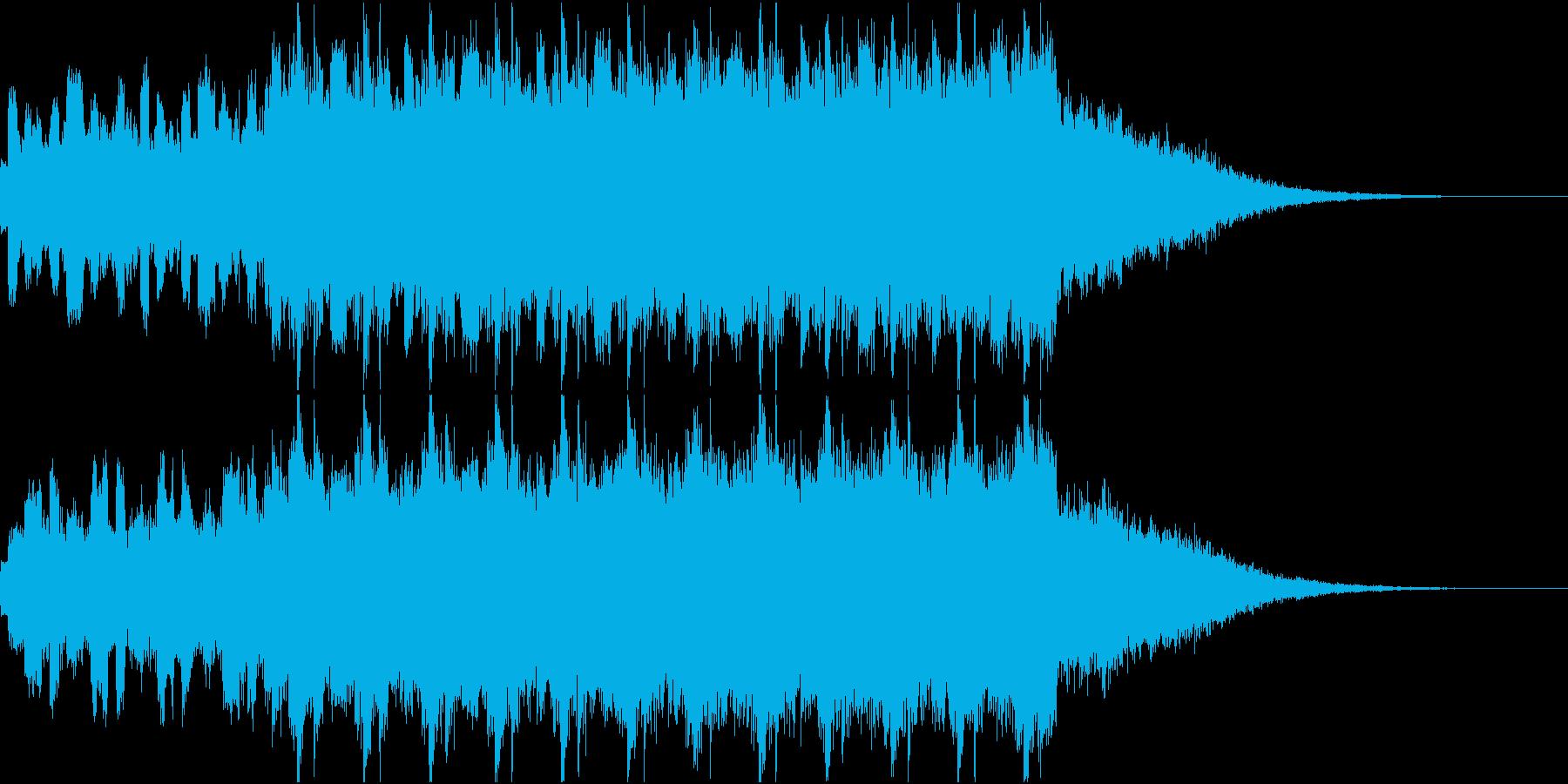 かっこいいテクノ イントロジングルの再生済みの波形