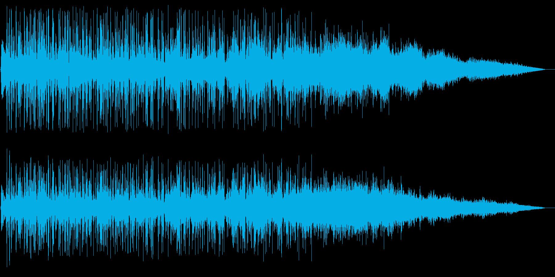 排水溝に吸い込まれる音の再生済みの波形