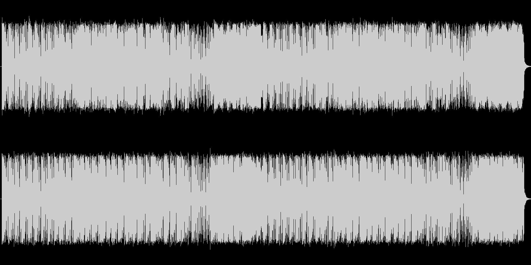 ボサノバ風の不思議な曲の未再生の波形