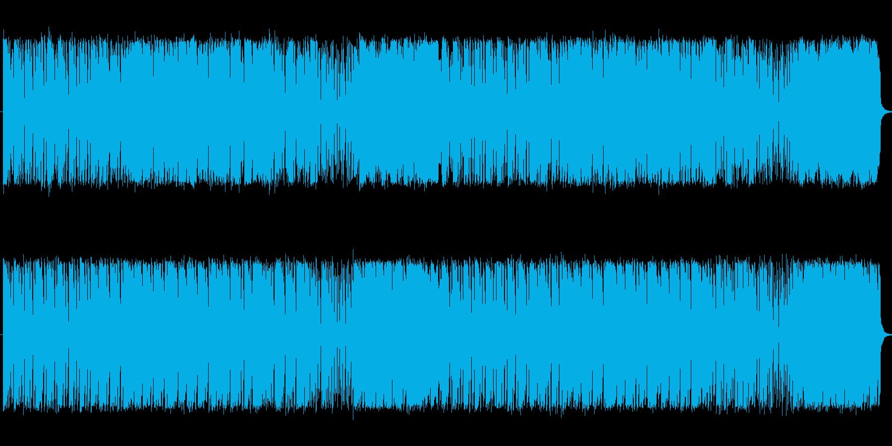 ボサノバ風の不思議な曲の再生済みの波形