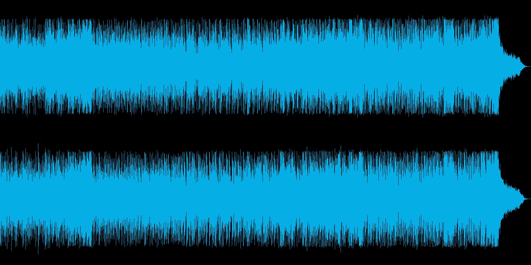 近未来的でリズミカルなテクノポップスの再生済みの波形