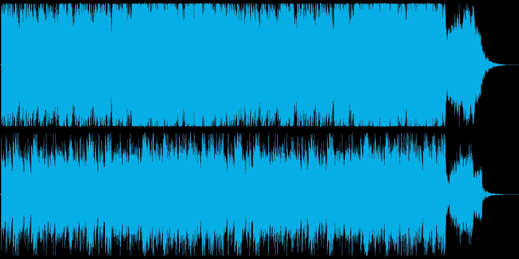 日常生活や何気ない場面用のBGMの再生済みの波形