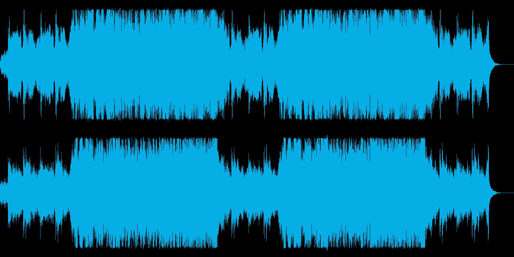 クラシックな音色にエレキが乱入してカオスの再生済みの波形