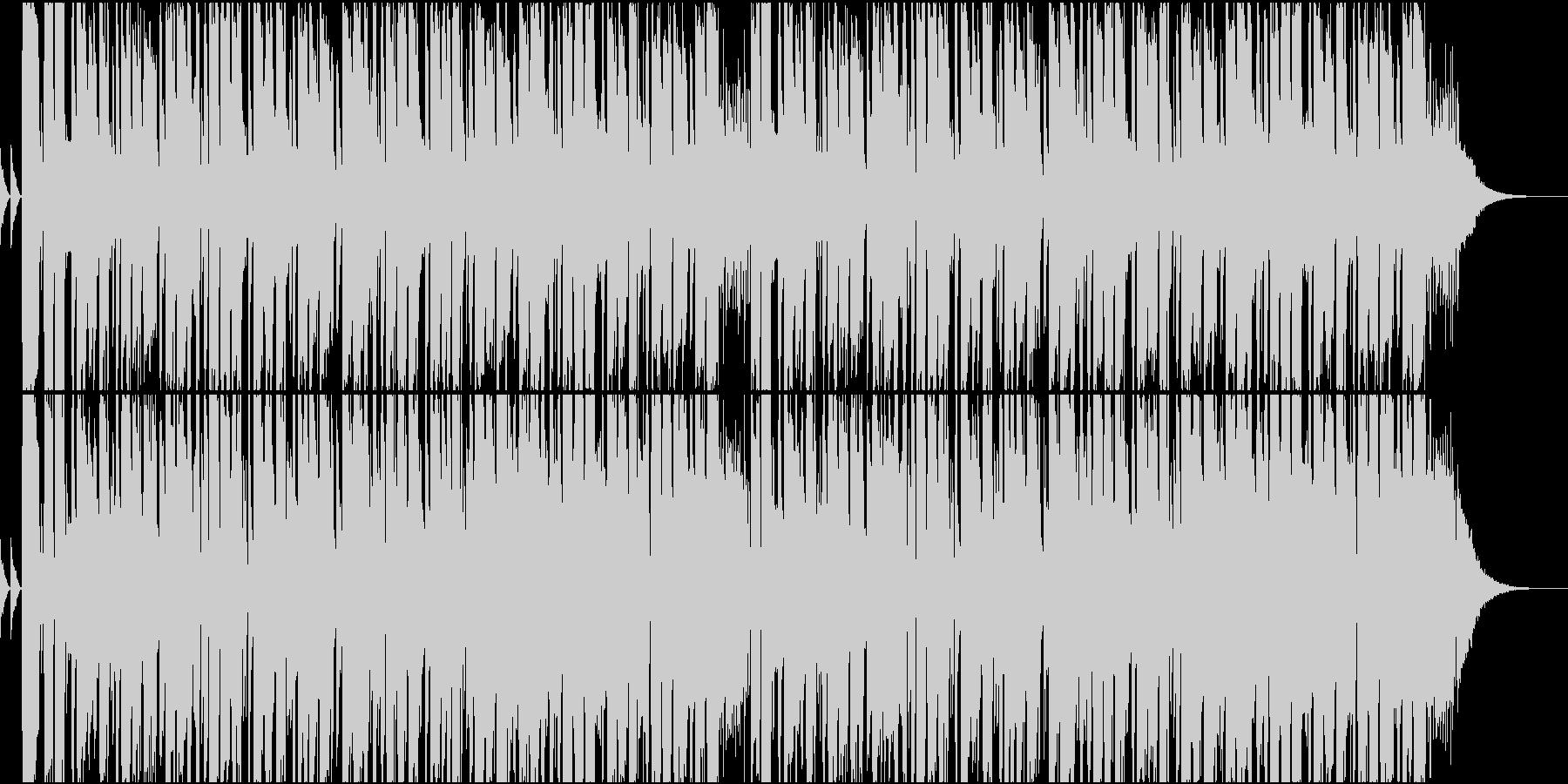 ファンキーですこし切ないロック調のBGMの未再生の波形