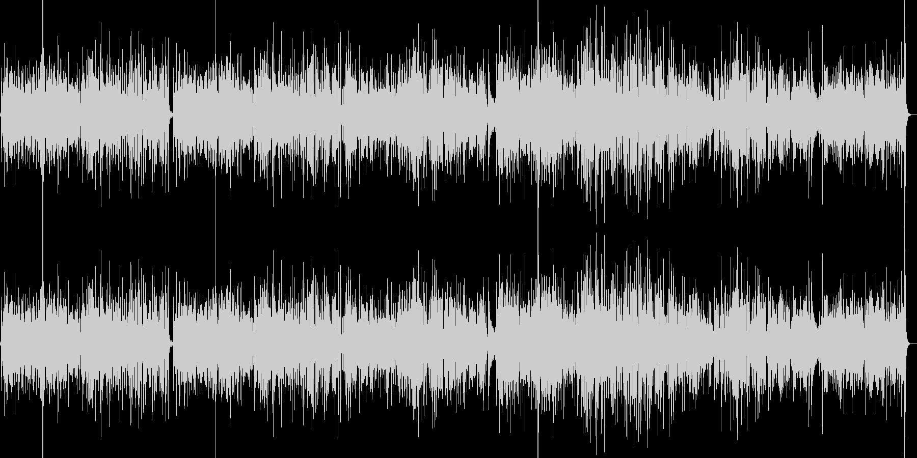 悲しげなボサノバ調の曲の未再生の波形