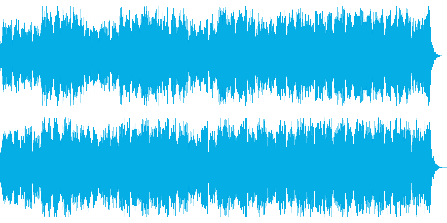 ダークでミステリアスなストリングスの再生済みの波形