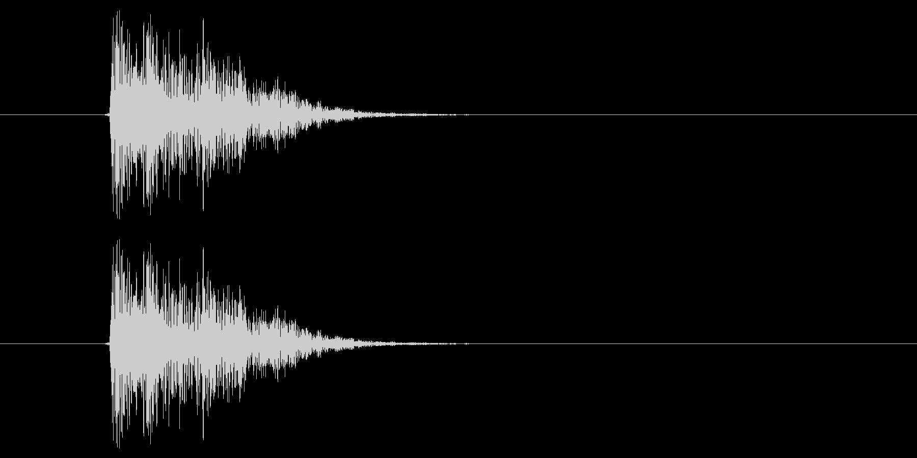 キュイッ(選択音、決定音)の未再生の波形
