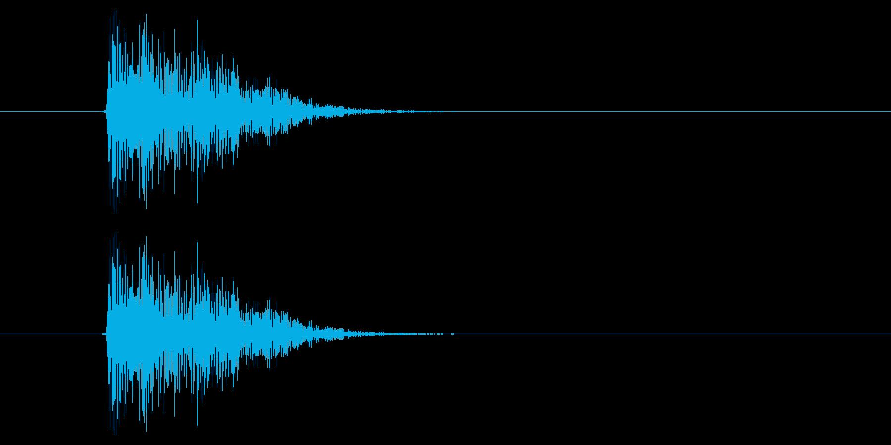 キュイッ(選択音、決定音)の再生済みの波形