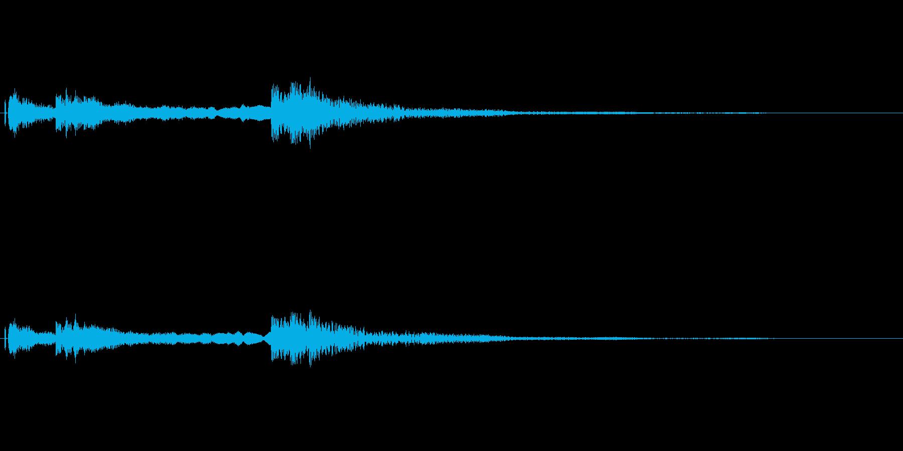 和風なサウンドですの再生済みの波形