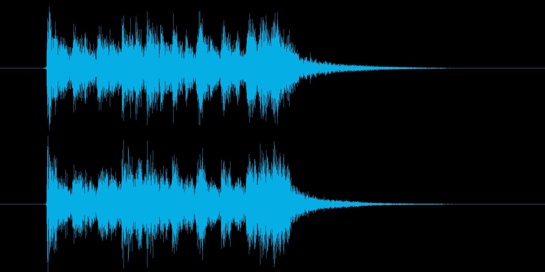 ノリの良いチャイニーズポップスの再生済みの波形