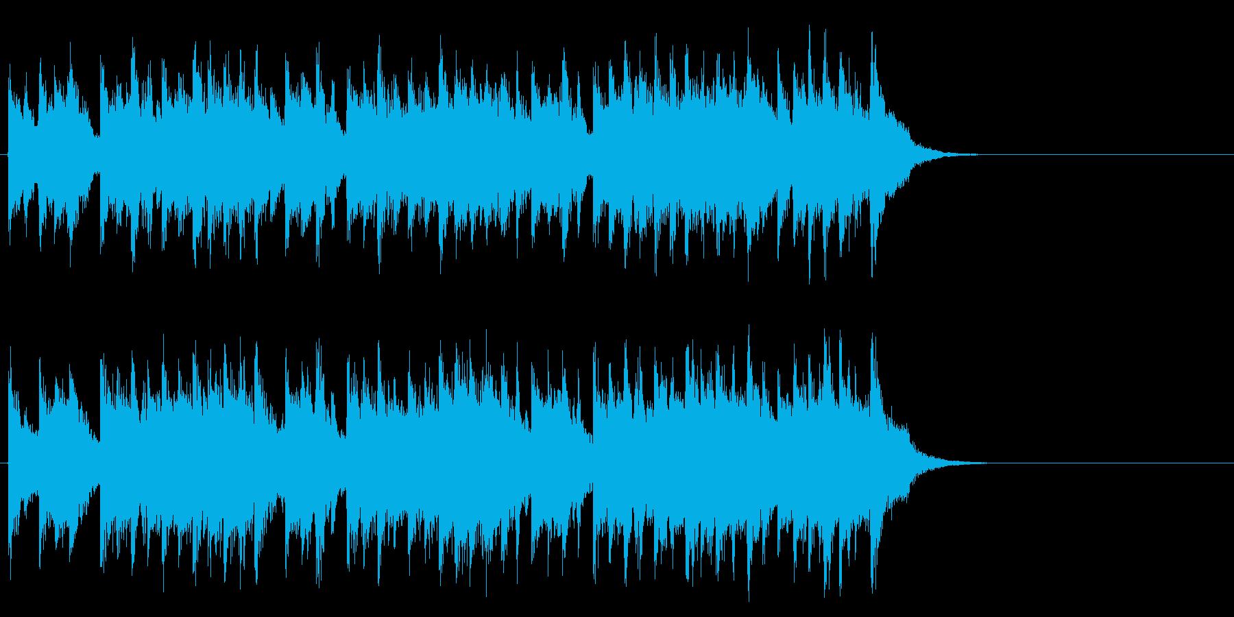 充実したゆったりポップ(サビ)の再生済みの波形