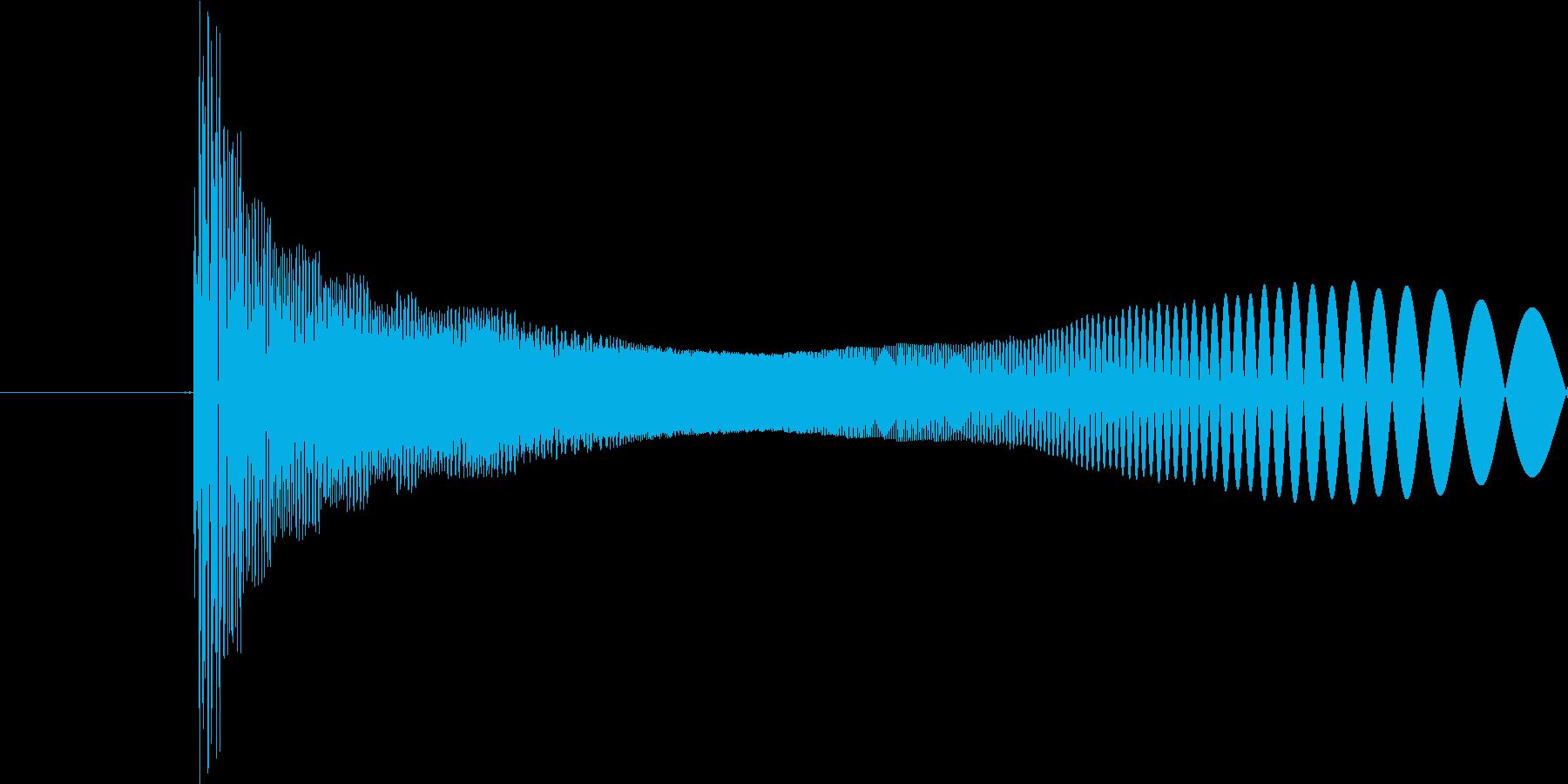 ピヨン(クリック音のような音)の再生済みの波形