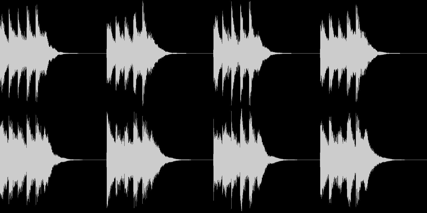シンプル ベル 着信音 チャイム A14の未再生の波形