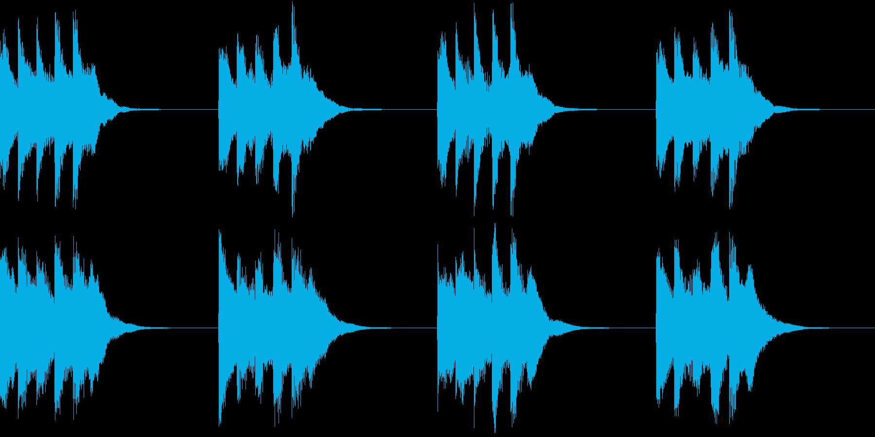 シンプル ベル 着信音 チャイム A14の再生済みの波形