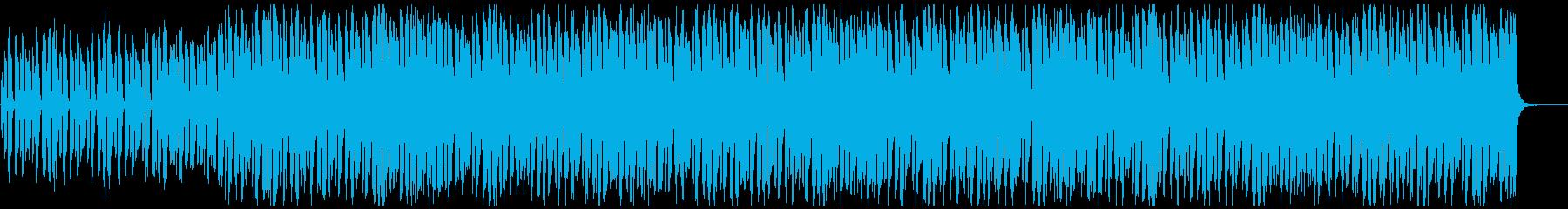 ダークな雰囲気の4つ打ちの曲の再生済みの波形