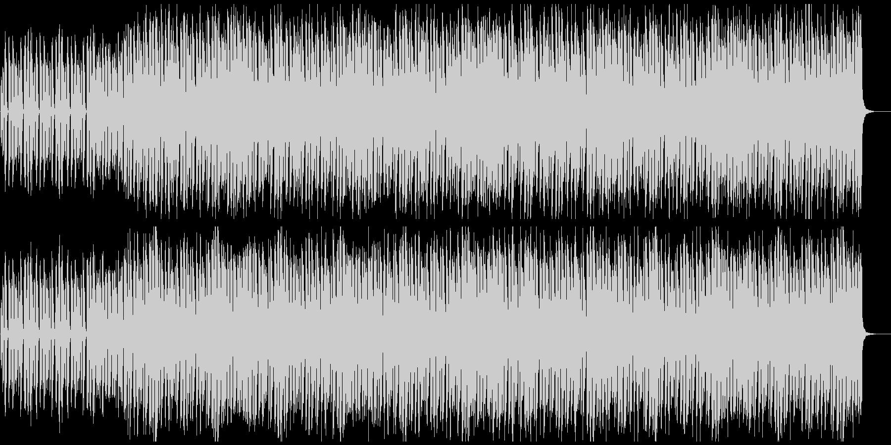 ダークな雰囲気の4つ打ちの曲の未再生の波形