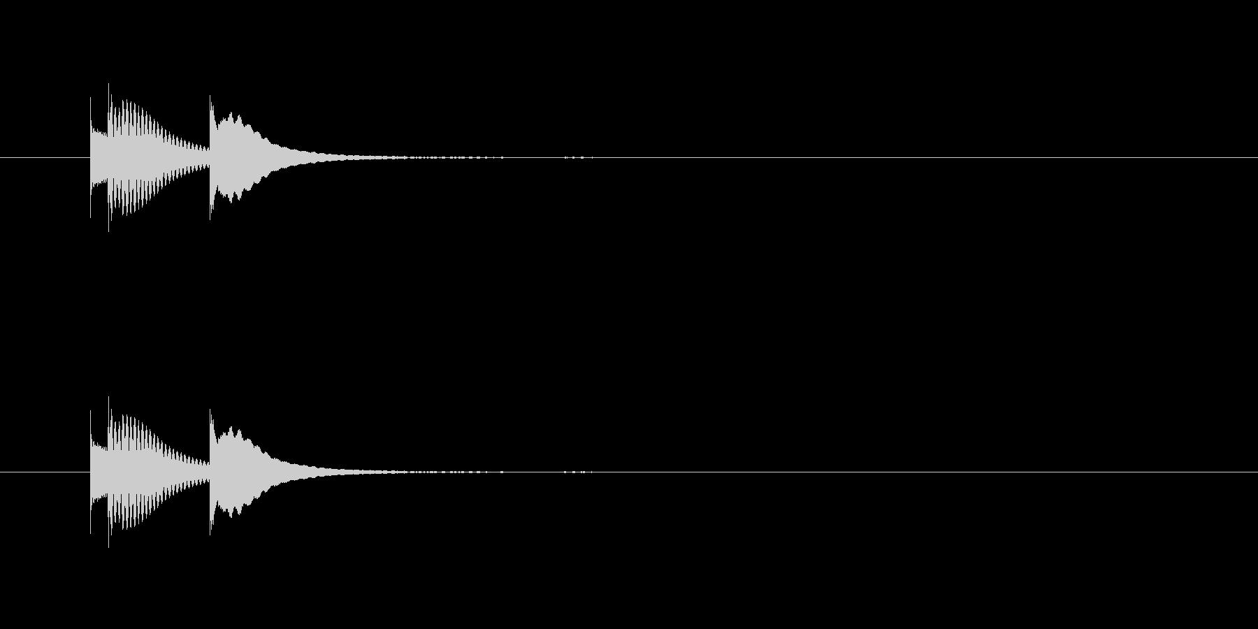 選択音 ピロン (マリンバ)の未再生の波形