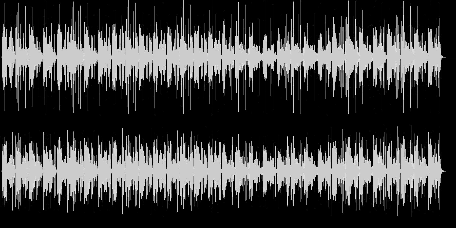 ミステリアスなシンセサイザーサウンドの未再生の波形