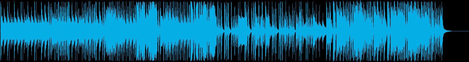 あたたかで平穏な日常の場面での曲の再生済みの波形