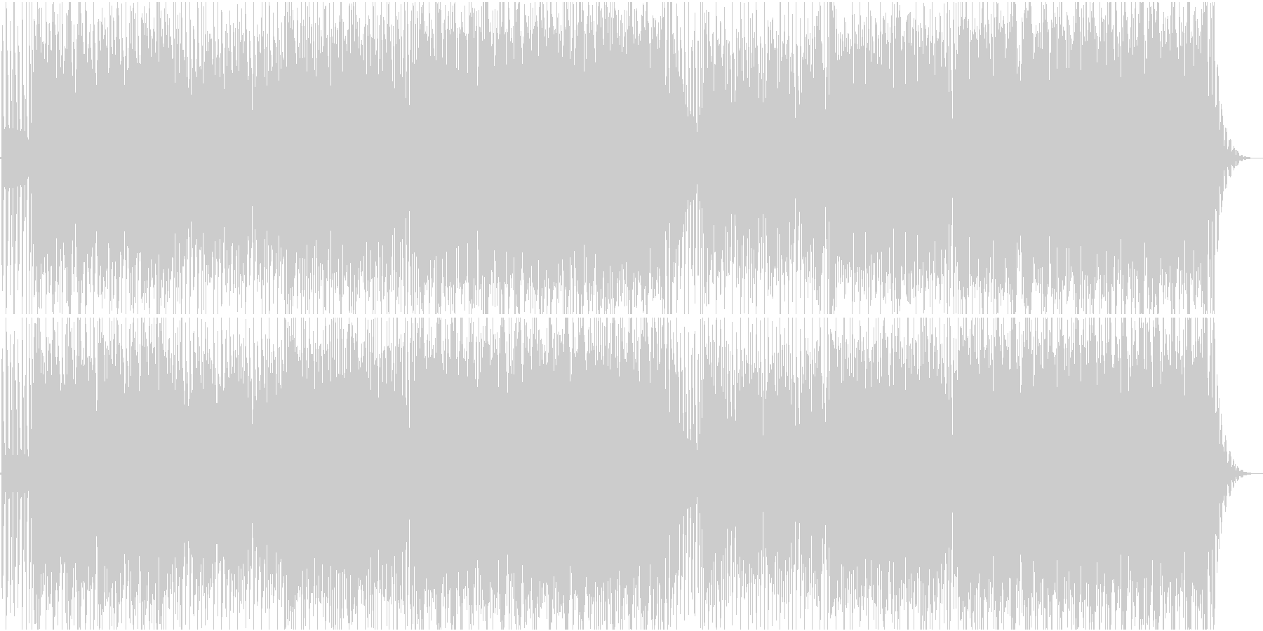 懐かしい雰囲気のローファイハウスの未再生の波形