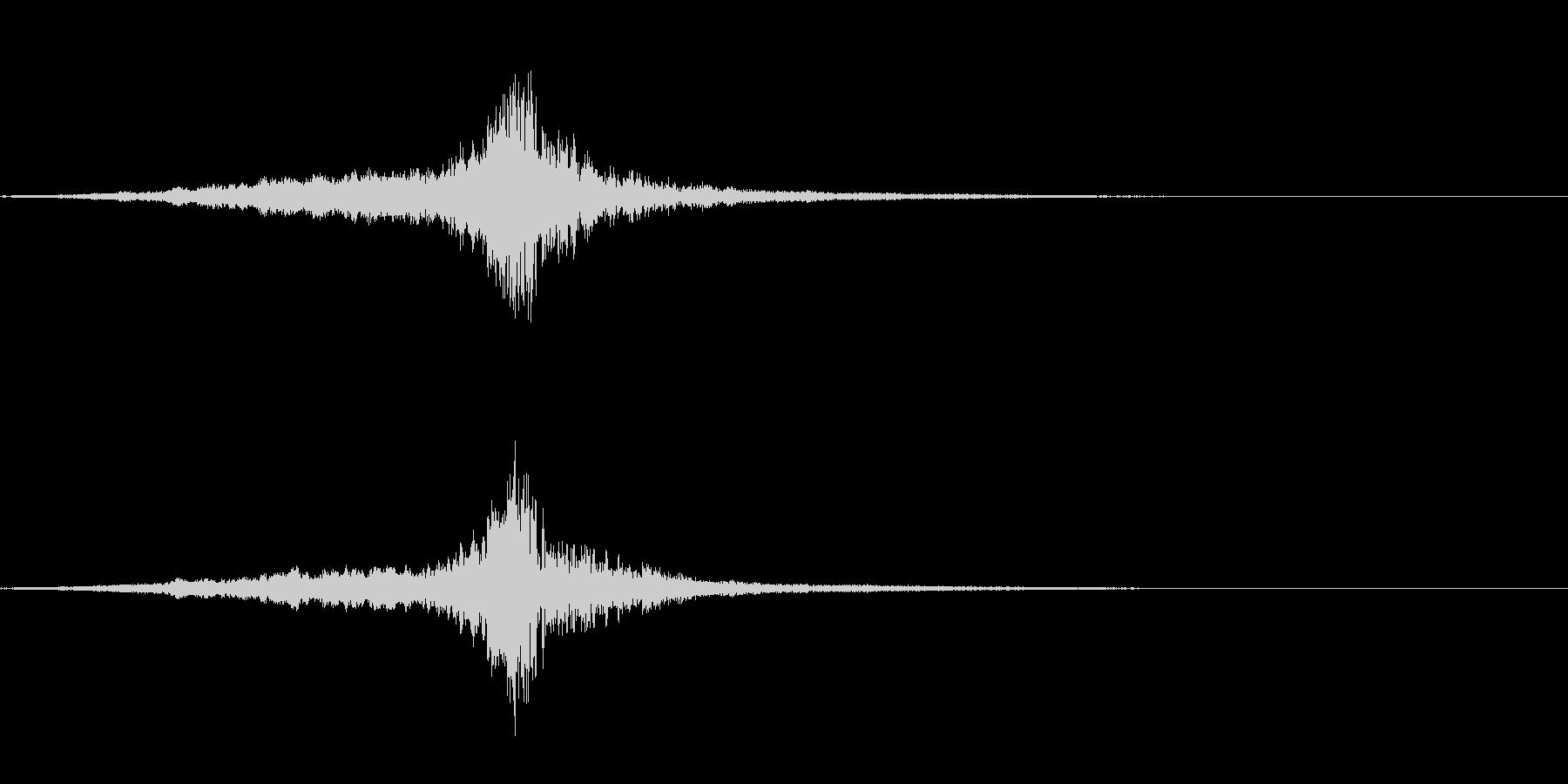 ロゴや転換の音・一刀両断・シューブンッの未再生の波形