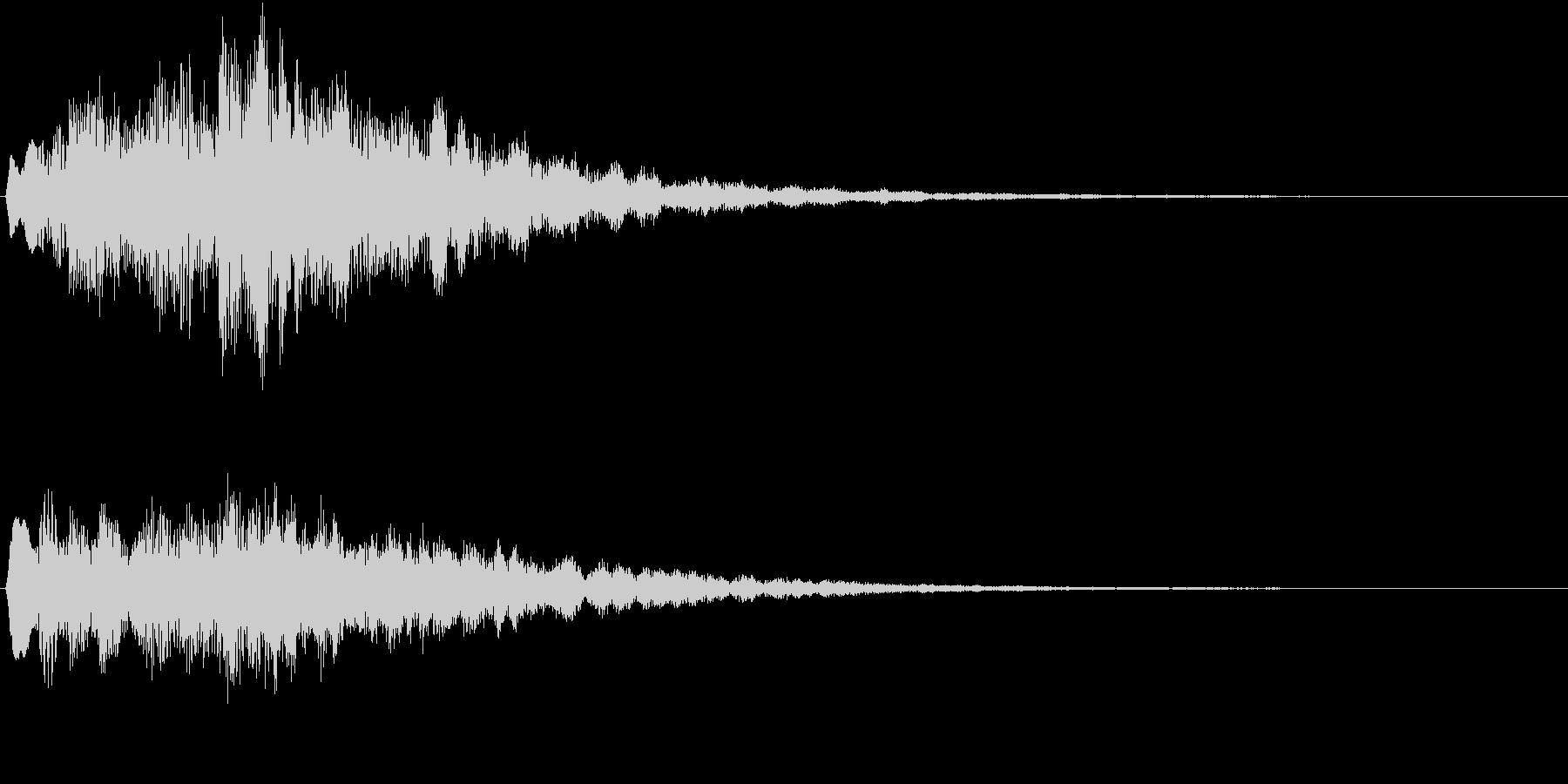 サウンドロゴ(明るい希望)の未再生の波形