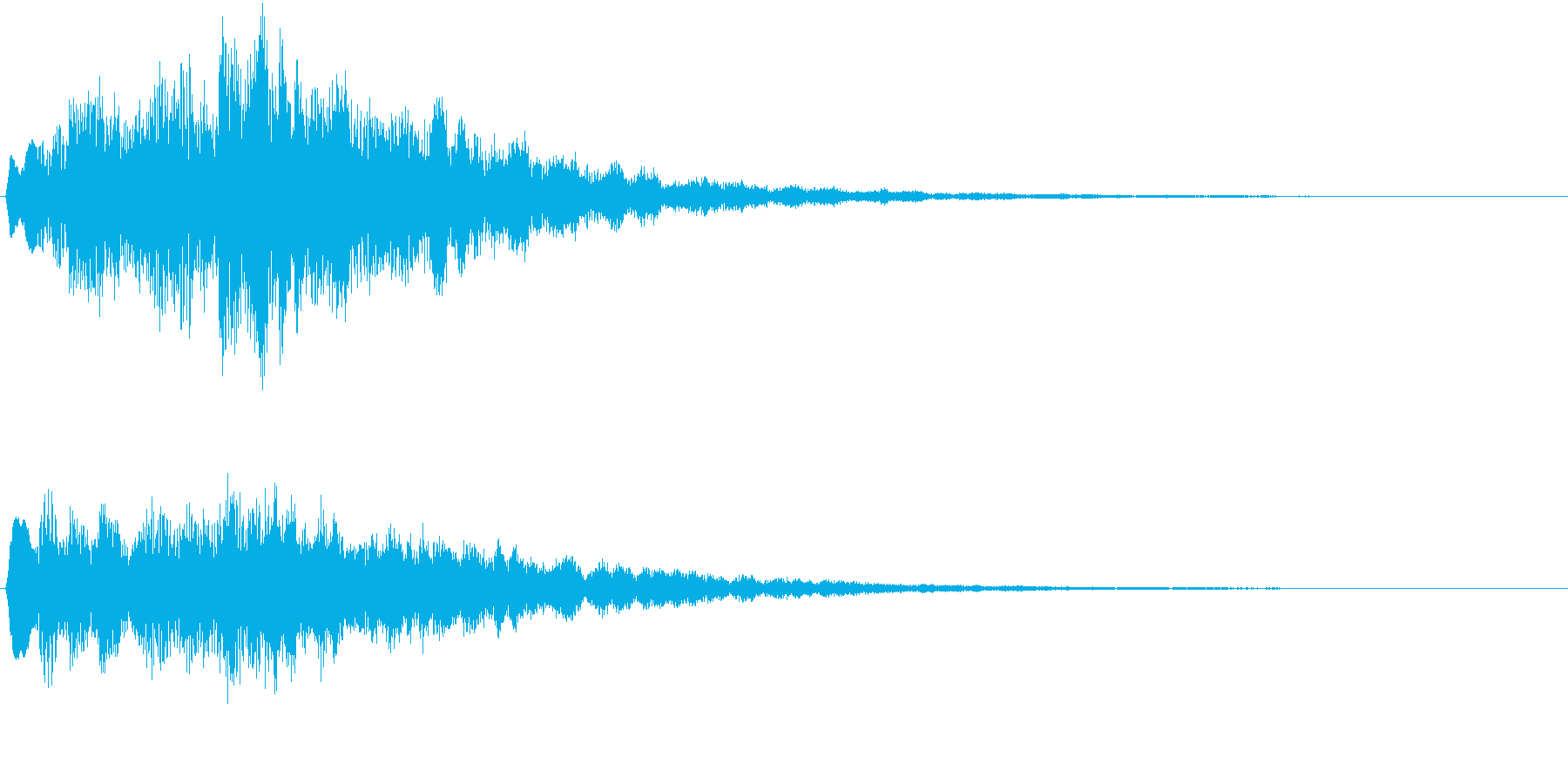 サウンドロゴ(明るい希望)の再生済みの波形