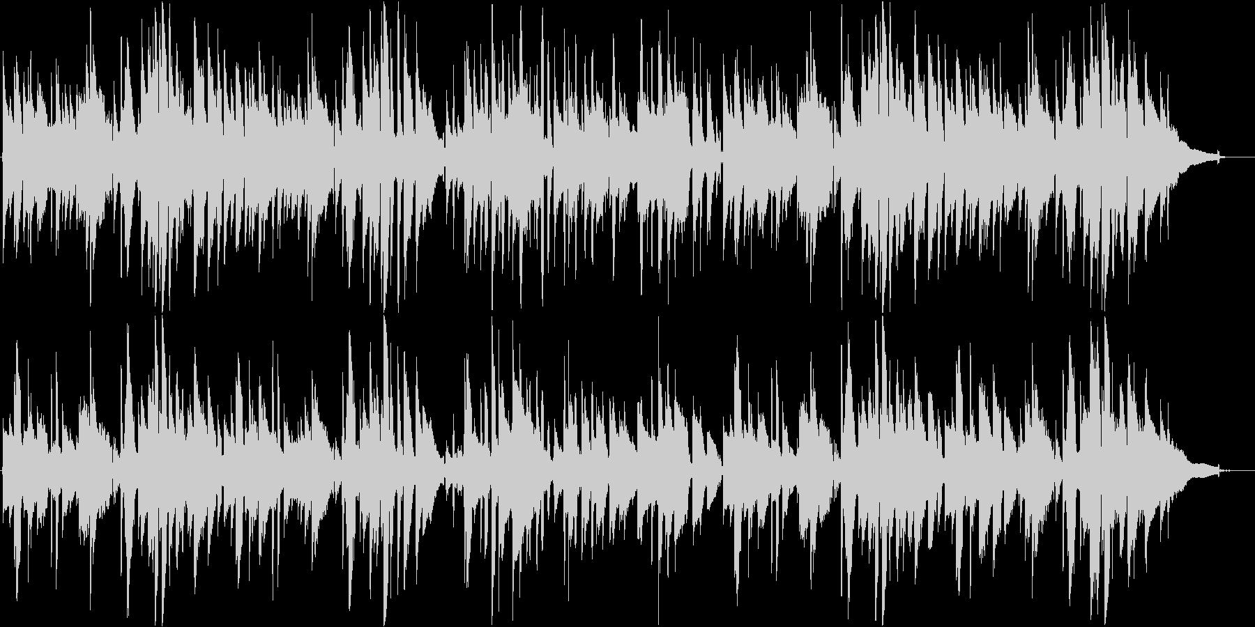 のんびりとしたアコースティックギター曲の未再生の波形