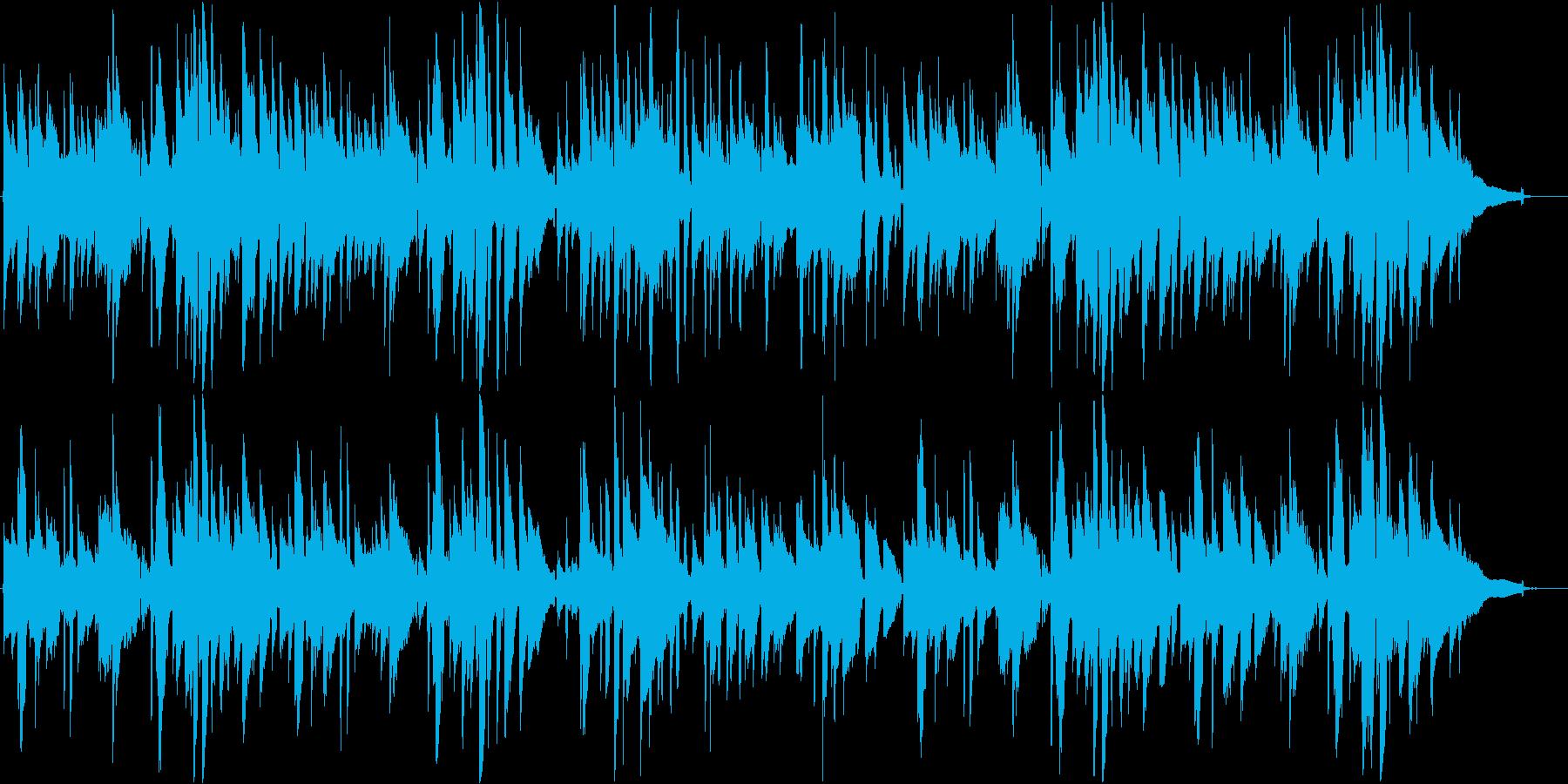 のんびりとしたアコースティックギター曲の再生済みの波形