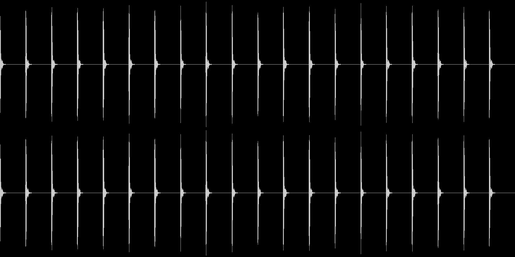 チャッチャッ..。時計の秒針D(低・長)の未再生の波形