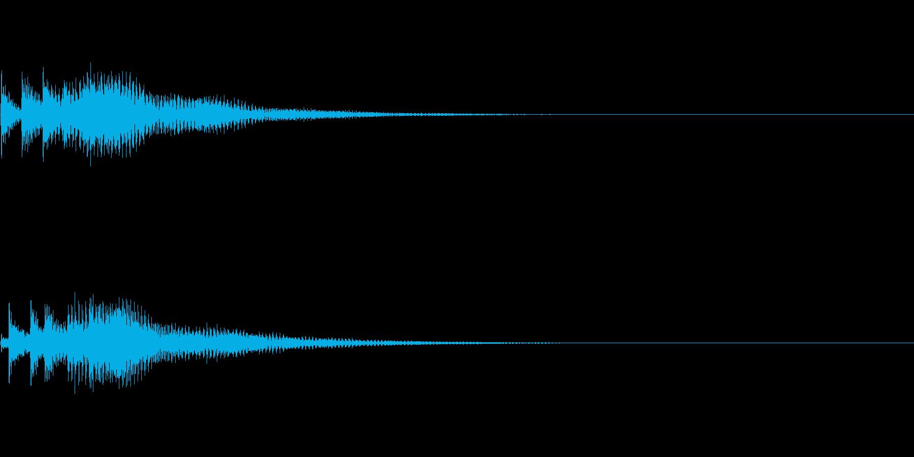 システム音14_シンセDPの再生済みの波形