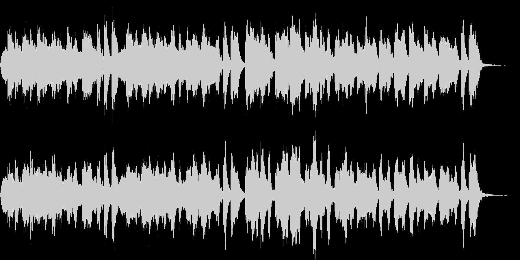 七面鳥の曲のシンセ編曲。楽しいBGMの未再生の波形