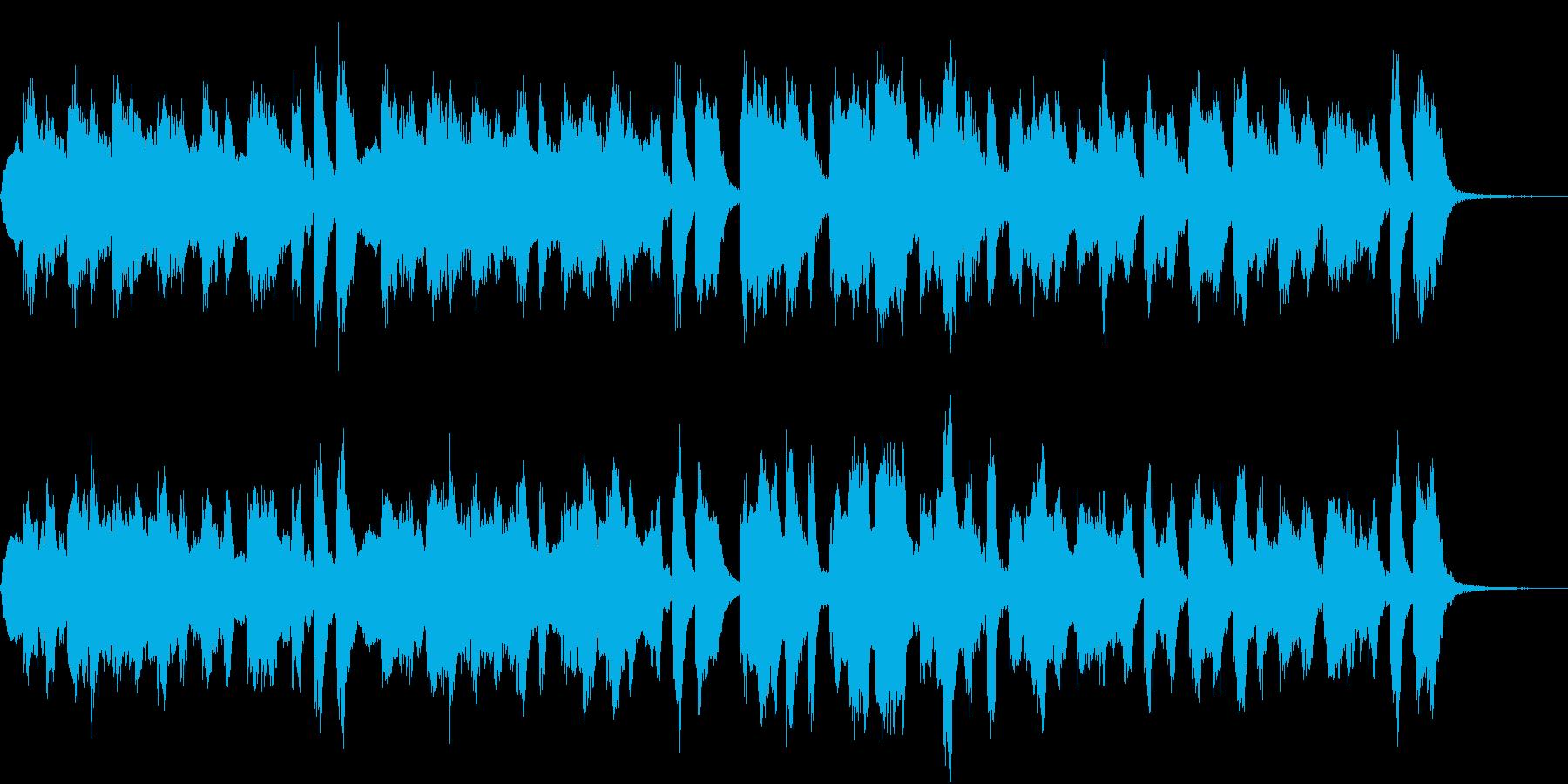 七面鳥の曲のシンセ編曲。楽しいBGMの再生済みの波形
