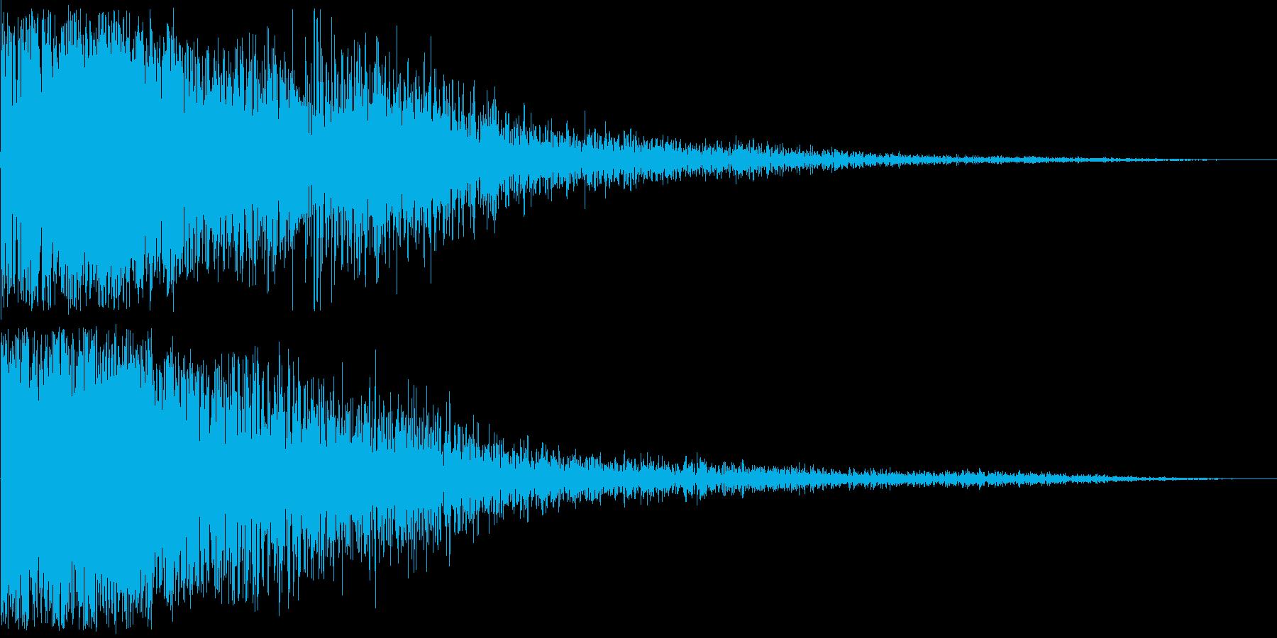 ライフル1の再生済みの波形