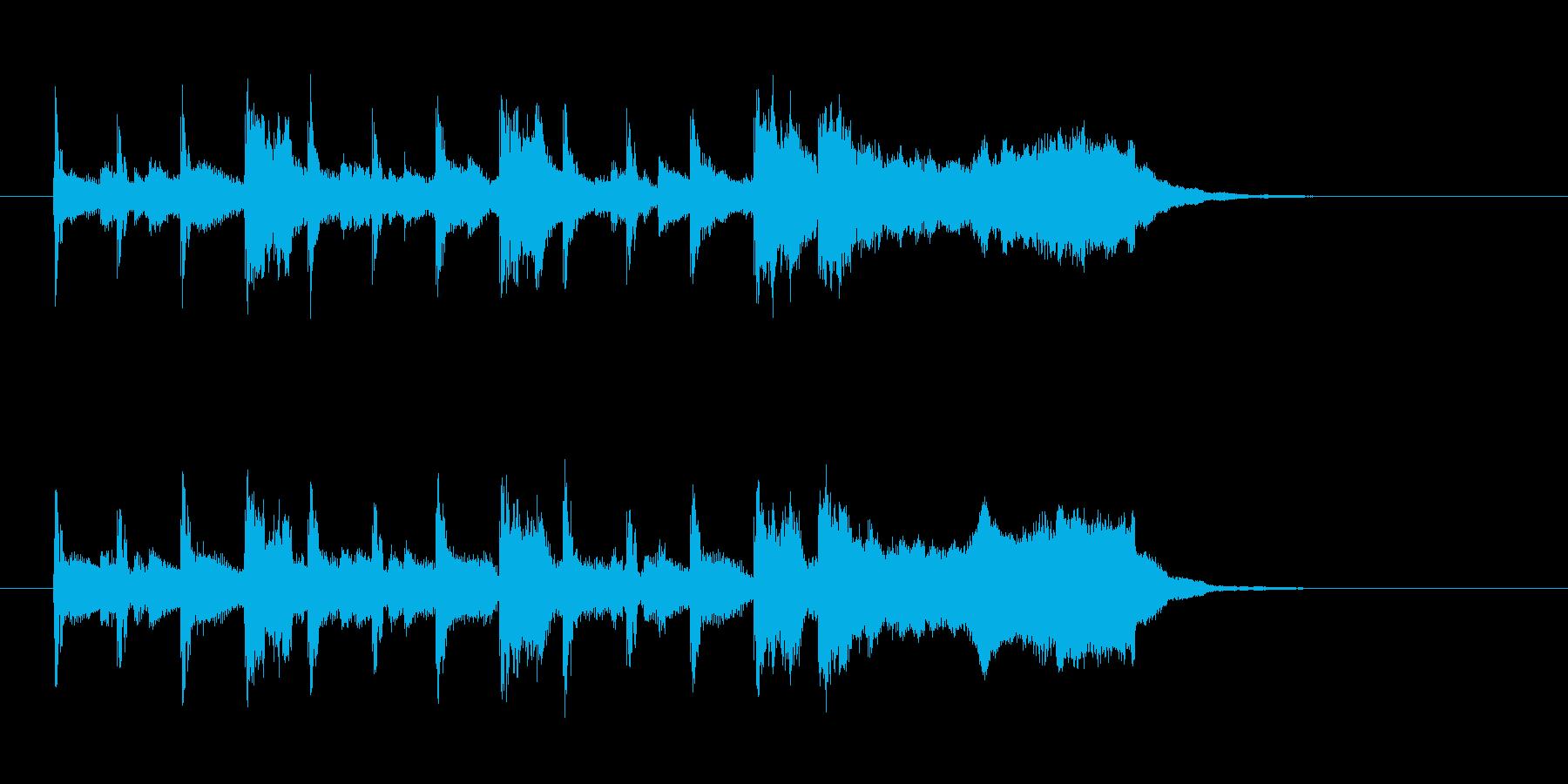 明るくドキドキ感のあるシンセサウンドの再生済みの波形