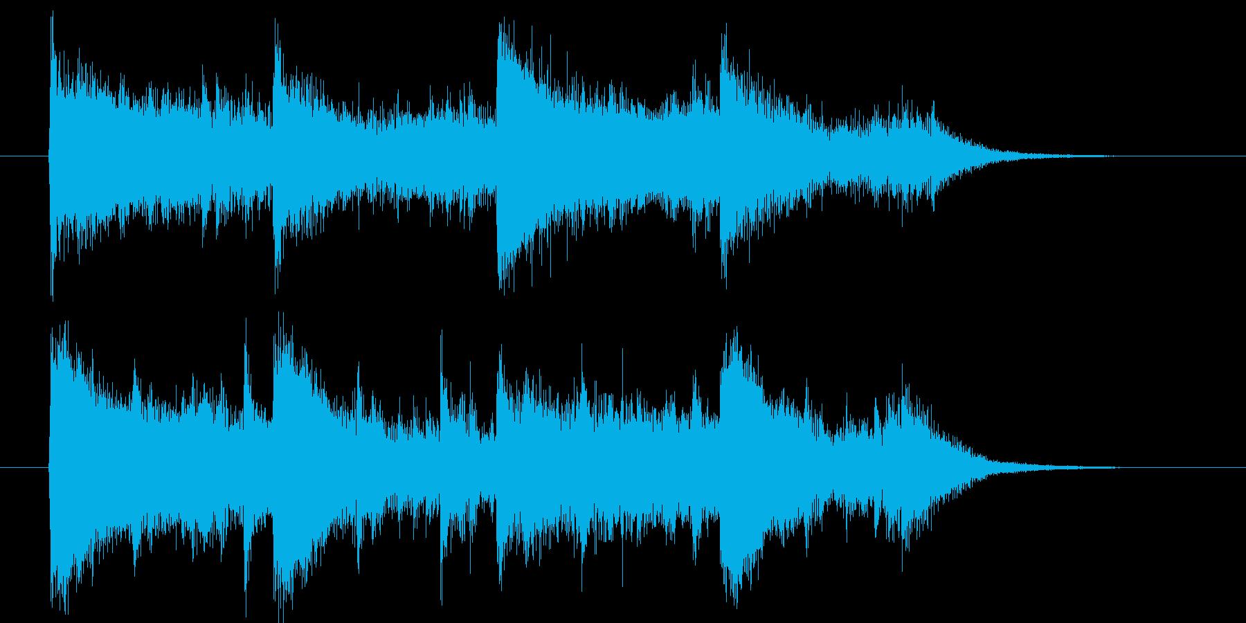 疾走感のあるストリングスミュージックの再生済みの波形