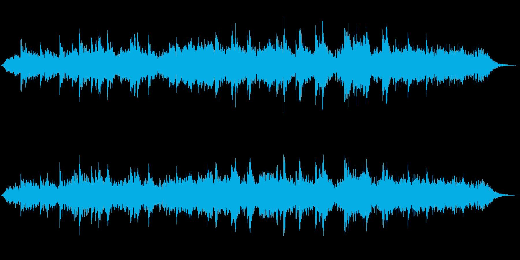 テクノ風ミニマルアンビエントジングルの再生済みの波形