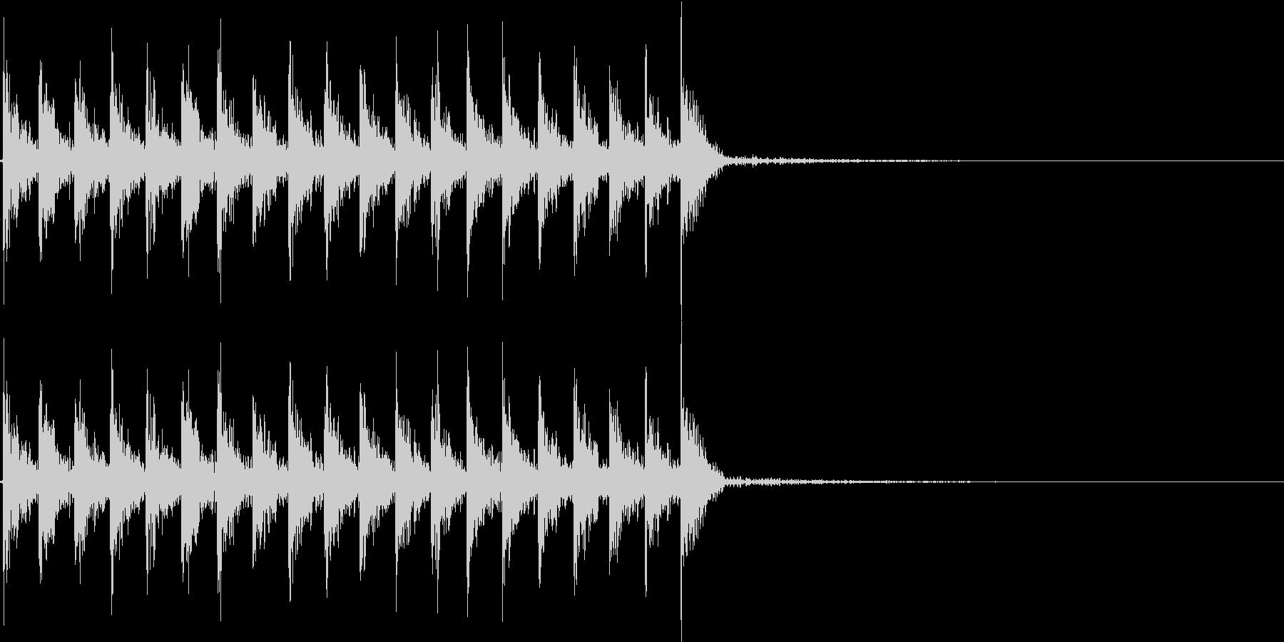 ダダダ...。発砲音E(連射・長め)の未再生の波形